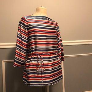 Ralph Lauren stripe tunic blouse